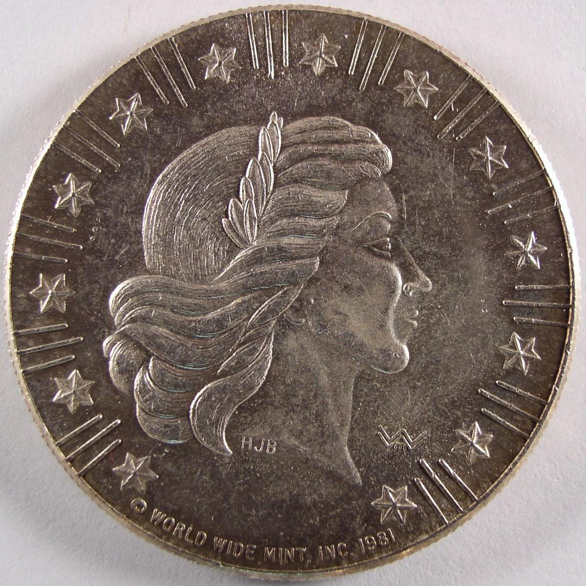 1981 American Eagle Silver Coin American Eagle Silver Dollar