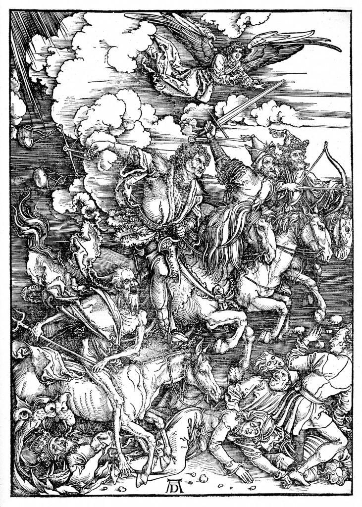 Albrecht Dürer, The Revelation of St John: The Four Riders of the Apocalypse, 1497-98, Woodcut