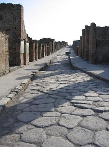 Pompeii Sidewalk by Paul Vlaar