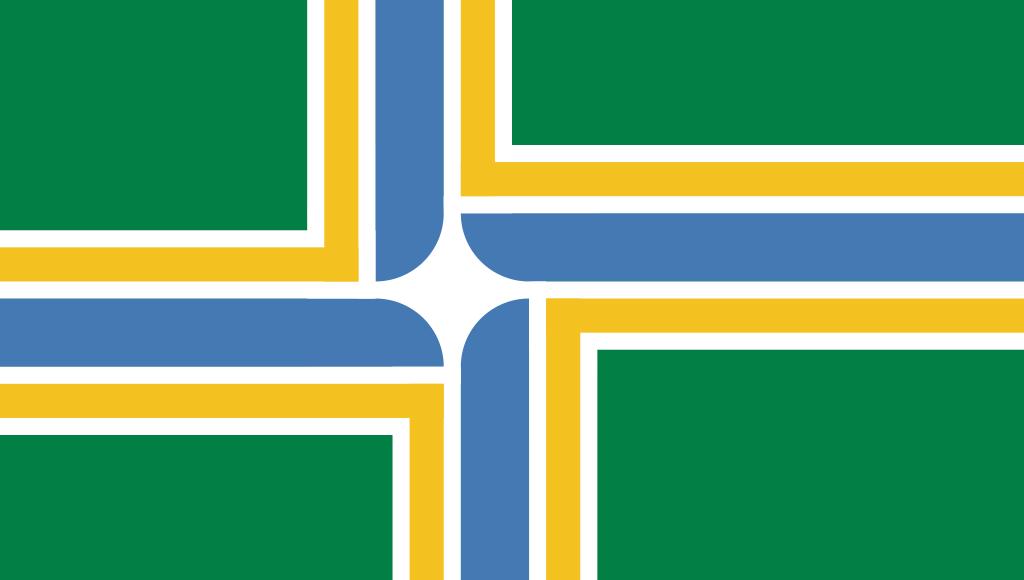 Flag of Portland Oregon