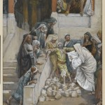 Exorcising the blind and mute man by James Tissot, late 19th century. Matthew 12:22-32, Luke 11:14-23 and Mark 3:20-30