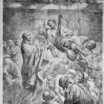 Christ healing the paralytic at Capernaum by Bernhard Rode 1780. Matthew (9:1-8), Mark (2:1-12) and Luke (5:17-26)