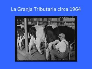 La Granja Tributaria circa 1964
